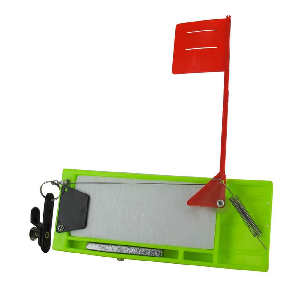 Jenzi Planer Board Scherbrett Neongrün 19cm mit Fahne